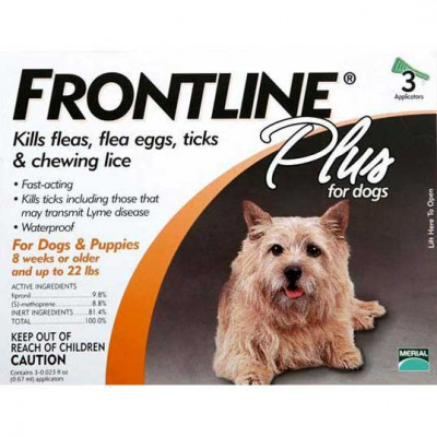 Frontline Flea Control Plus for Dogs And Puppies 11-22 lbs 3 Pack - 11-22-3PK-PS
