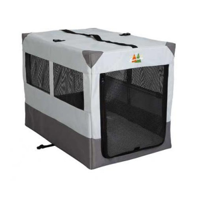 Midwest Canine Camper Sportable Gray 36in x 25.5in x 28in - 1736SP
