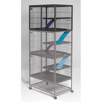 Midwest Ferret Nation Add-On Single Unit Platinum Gray Hammertone 36in x 25in x 24in - 183