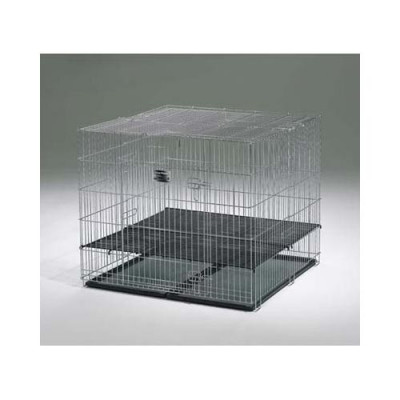 Midwest Puppy Playpen with Plastic Pans and 1/2in Floor Grid 36in x 36in x 30in - 236-05