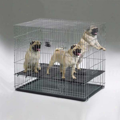Midwest Puppy Playpen with Plastic Pans and 1in Floor Grid 48in x 48in x 30in - 248-10