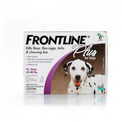 Frontline Flea Control Plus for Dogs And Puppies 45-88 lbs 6 Pack – 45-88-6PK-PS