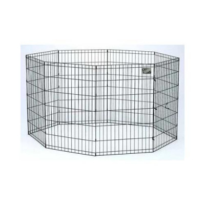 Midwest Black E-Coat Pet Exercise Pen - 48in x 24in - 558-48