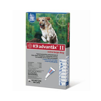 Advantix Flea and Tick Control for Dogs Over 55 lbs 4 Month Supply - ADVX-BLUE-100-4