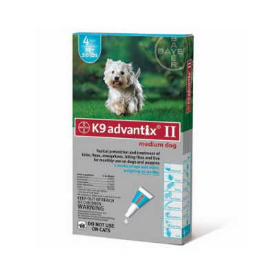 Advantix Flea and Tick Control for Dogs 10-22 lbs 4 Month Supply - ADVX-TEAL-20-4
