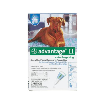 Advantage Flea Control for Dogs And Puppies Over 55 Lbs 6 Month Supply - BLUE-100-6