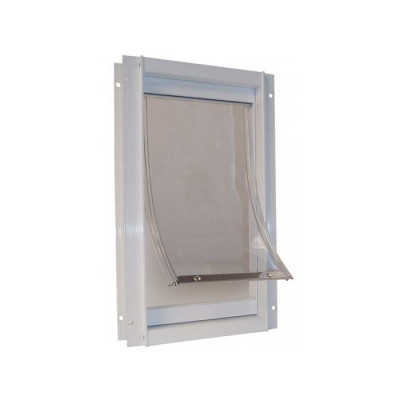 Ideal Deluxe Dog Door Medium White - DDMW
