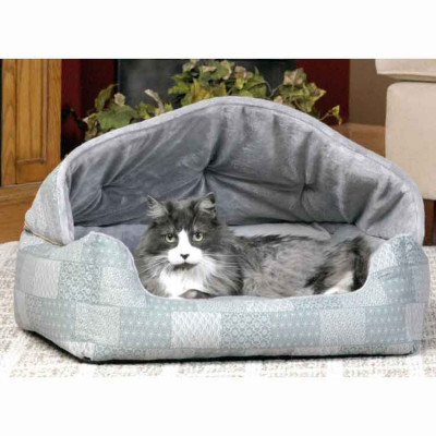Hooded Cuddle Sleeper Cat Bed