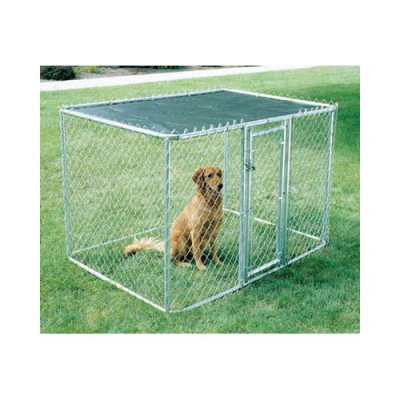 Midwest Chain Link Portable Kennel - Includes a Sunscreen 6' x 4' x 4' - K9644