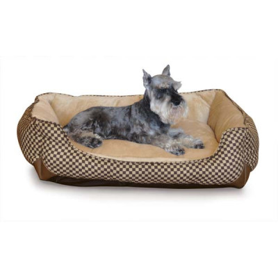K&H Pet Products Self Warming Lounge Sleeper Square Brown