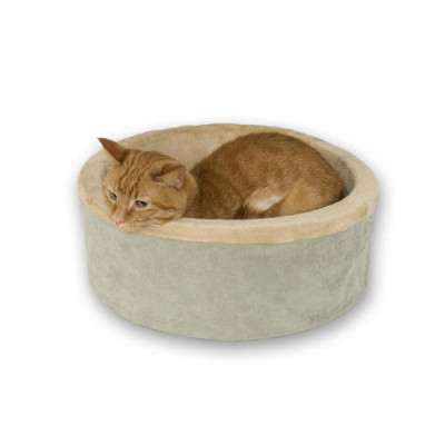 K&H Pet Products Thermo-Kitty Bed Sage 16in x 16in x 6in - KH3193