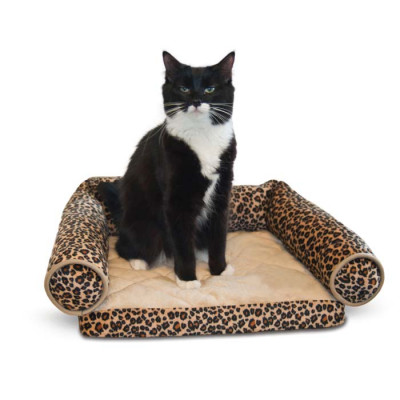 K&H Pet Products Lazy Lounger Leopard 14in x 16in x 5.5in – KH3347