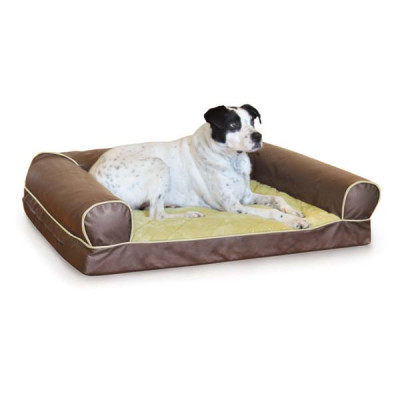 K&H Pet Products Thermo-Cozy Sofa Milk Chocolate