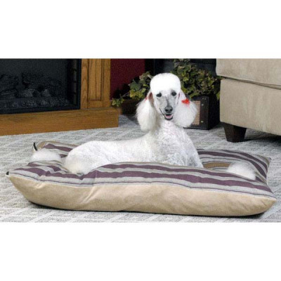 K&H Pet Products Single-Seam Bed Classic Large Burgundy and Gold 43in x 56in x 4in - KH7022