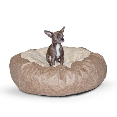 K&H Pet Products Self Warming Cuddle Ball Tan Distress