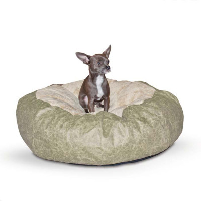 K&H Pet Products Self Warming Cuddle Ball Green Distress