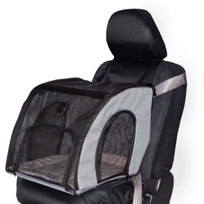 K&H Pet Products Travel Safety Carrier Large Gray 29.5in x 22in x 25.5in – KH7680