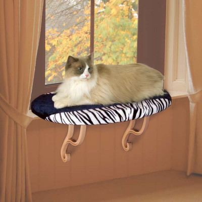 K&H Pet Products Kitty Sill Zebra 14in x 24in x 9in – KH9096