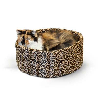 K&H Pet Products Lazy Cup Small Leopard 16in x 16in x 7in – KH9121