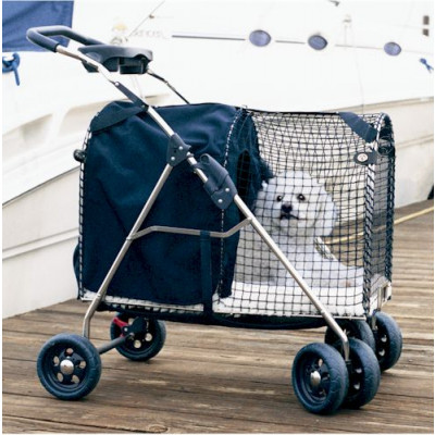 Kittywalk 5th Ave Luxury Pet Stroller SUV Blue - KWPS5AVESUV