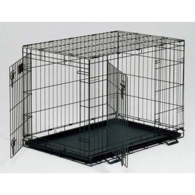 Midwest Life Stages Double Door Dog Crate 24in x 18in x 21in - LS-1624DD