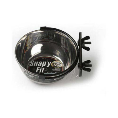 Midwest Stainless Steel Snap'y Fit Water and Feed Bowl 10 oz - MW40-10