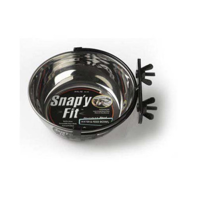 Midwest Stainless Steel Snap'y Fit Water and Feed Bowl 20 oz - MW40-20
