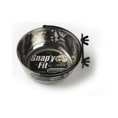 Midwest Stainless Steel Snap'y Fit Water and Feed Bowl 2 quarts - MW42