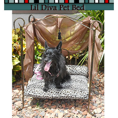 Metropolis Lil Diva Wrought Iron Dog Bed