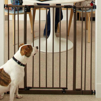 North States Extra Tall Deluxe Easy-Close Gate With 2 Extensions 28in - 38.5in x 36in - NS4993S
