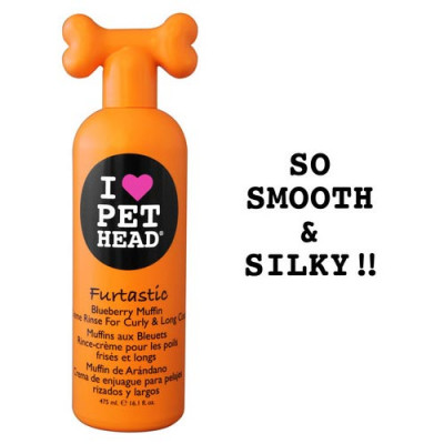 Pet Head Furtastic Crème Rinse for Curly and Long Coat Blueberry Muffin 16oz – PH10202