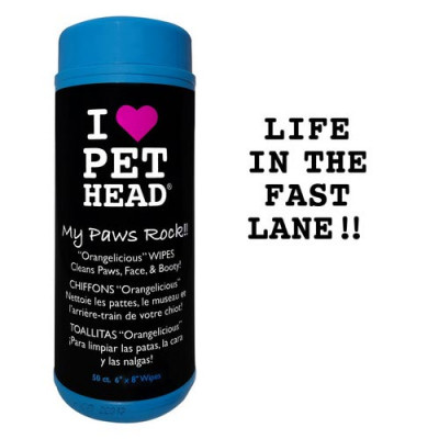 Pet Head My Paws Rock Grooming Wipes Orangelicious 50 count – PH10403