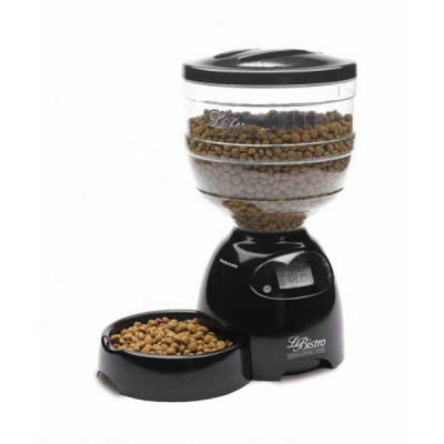 Petmate Le Bistro Programmable Feeder 10 lbs Black 10in x 15.8in x 18.2in - PTM24240