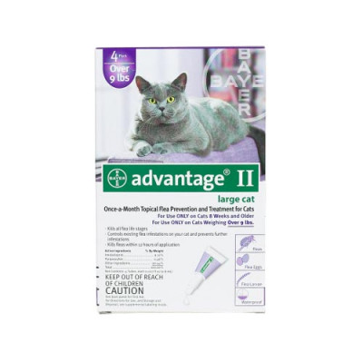 Advantage Flea Control for Cats and Kittens Over 9 lbs 4 Month Supply - PURPLE-20-4