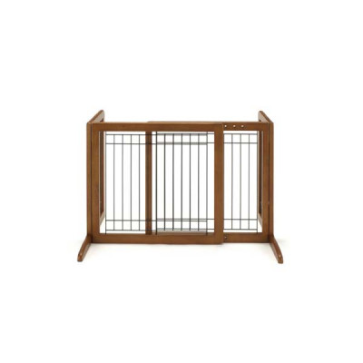 Richell Freestanding Pet Gate Small Autumn Matte 26.4in - 40.2in x 17.7in x 20.1in - R94135