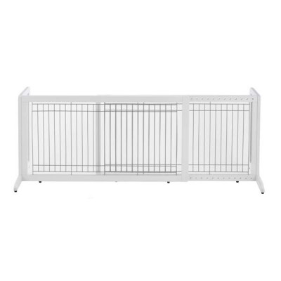 Richell Freestanding Pet Gate Large White 39.8in - 71.3in x 17.7in x 20.1in - R94157