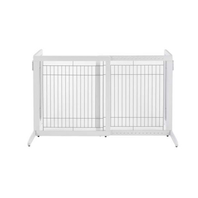 Richell Freestanding Pet Gate HS White 28.3in - 47.2in x 23.6in x 27.6in - R94158