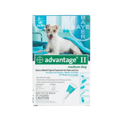 Advantage Flea Control for Dogs And Puppies 11-20 Lb 6 Month Supply - TEAL-20-6