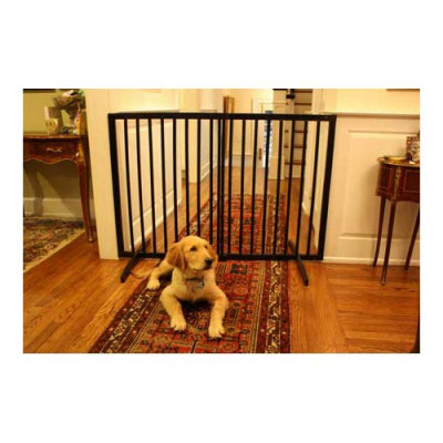 Cardinal Extra Tall Freestanding Pet Gate Black 27.5in - 51in x 36in - XTG-B