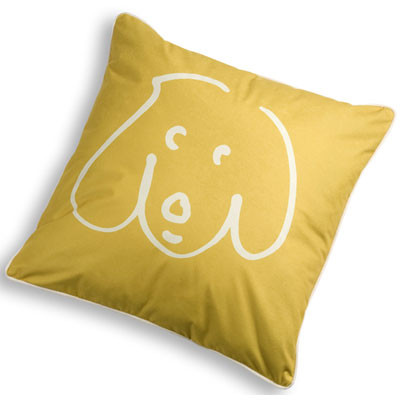 Crypton Doodle Dog Throw Pillow