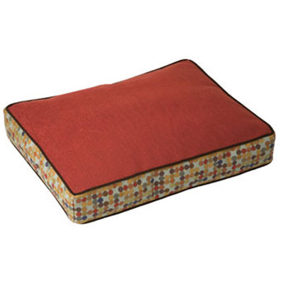 Crypton Herringbone Rectangle Dog Bed