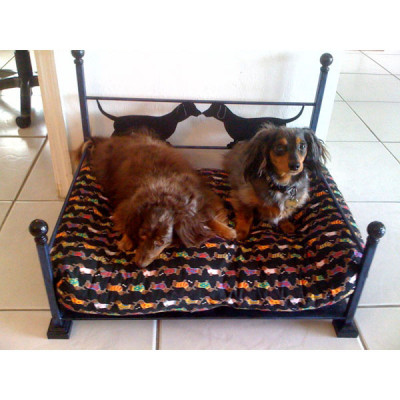 Metropolis Breed Specific Wrought Iron Dog Bed