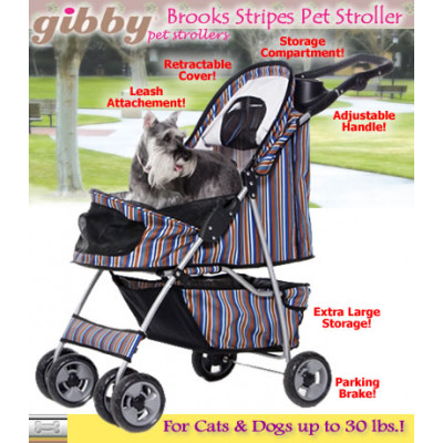 Stripes Pet Stroller by Gibby