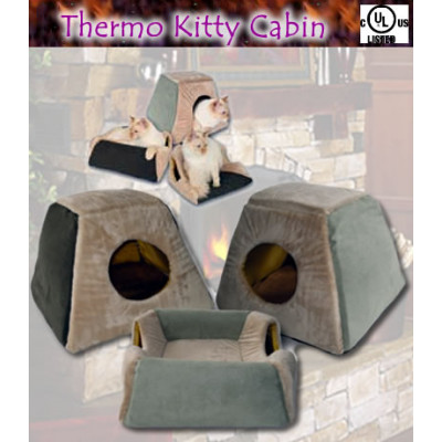 Thermo-Kitty Cabin Pet Bed