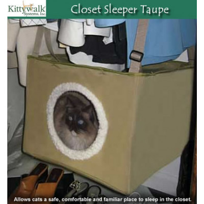 Kittywalk Closet Sleeper Taupe