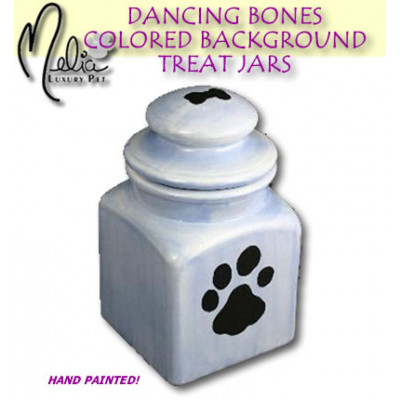 Colored Background Treat Jar