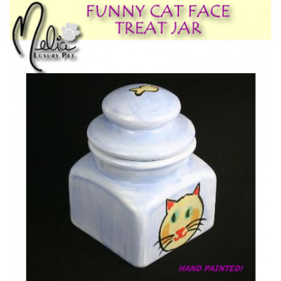 Funny Face Cat Treat Jar