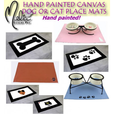 Canvas Dog or Cat Place Mat