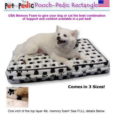 Pooch Pedic Rectangle Dog Bed