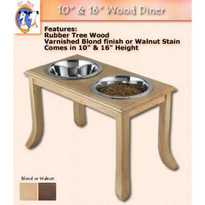 Wooden Double Dog Dining Station